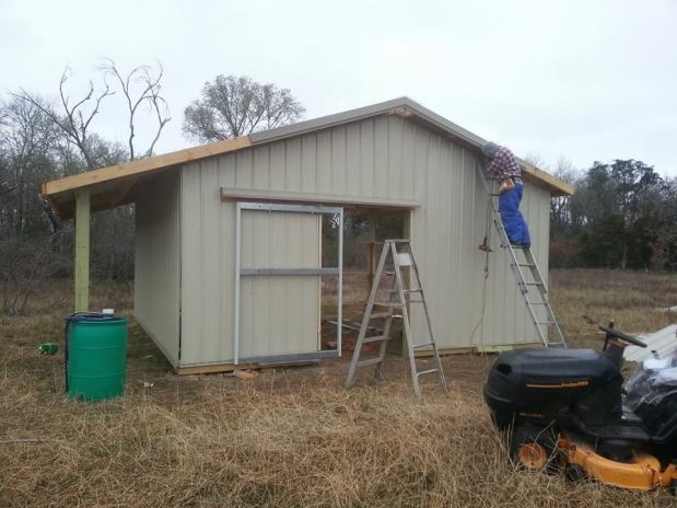 Our Pole Barn – Two walls are up