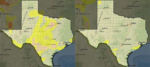 Texas Drought April-May 2019