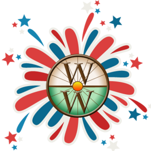 Whirld Works Logo Fireworks