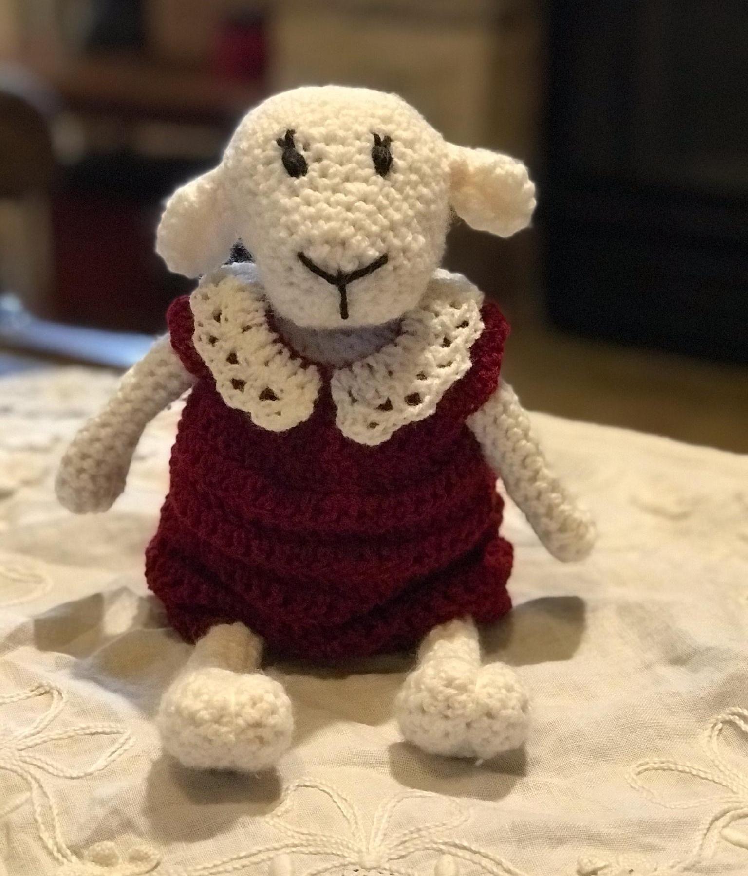 Hand Crochet Lamb